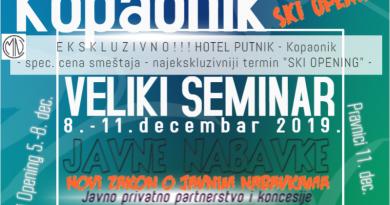 "VELIKO CMN SAVETOVANJE, 8. – 11. decembra 2019. – Hotel ""Putnik"" – Kopaonik**** ((preko 115 prijavljenih – ograničen kapacitet))"