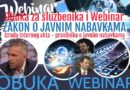 OBUKA za službenika i WEBINAR novi Zakon, Portal i Interni akt!