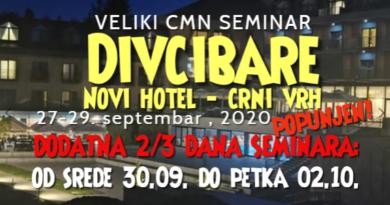 "Veliki CMN Seminar na Divčibarama – 2 termina – u novom Hotelu ""Crni vrh"", 27.09. do 30.9. i 30.09. do 02.10."