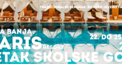Veliki CMN Seminar – POČETAK ŠKOLSKE 2021/22. SOLARIS RESORT VRNJAČKA BANJA (Borsko jezero se renovira*) 22. do 25. avgusta
